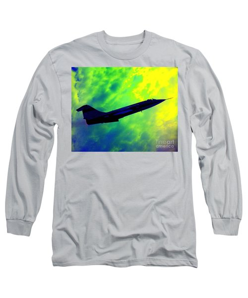 Long Sleeve T-Shirt featuring the photograph F104 In Clouds - 2 by Greg Moores