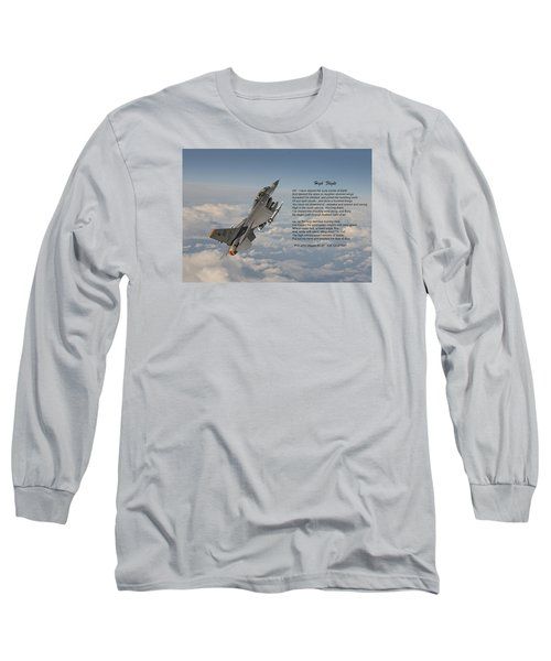 F16 - High Flight Long Sleeve T-Shirt by Pat Speirs