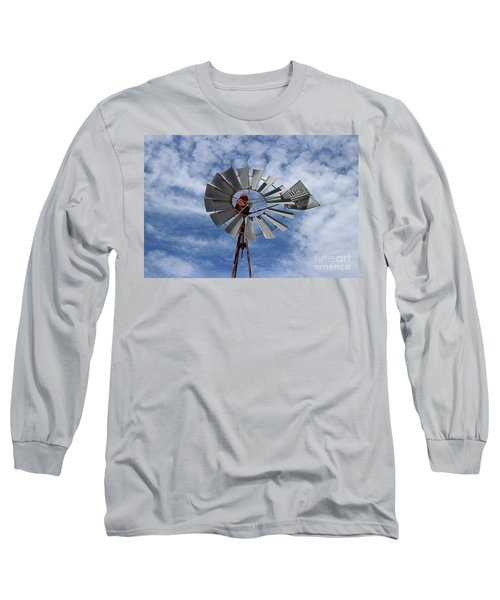 Long Sleeve T-Shirt featuring the photograph Facing Into The Breeze by Stephen Mitchell