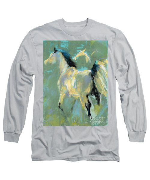 Fading Out To Three Long Sleeve T-Shirt by Frances Marino