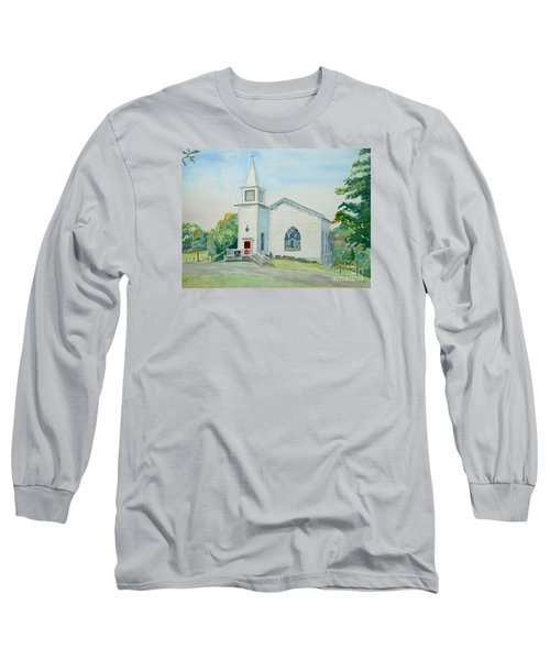 Fairdale Um Church Long Sleeve T-Shirt by Christine Lathrop