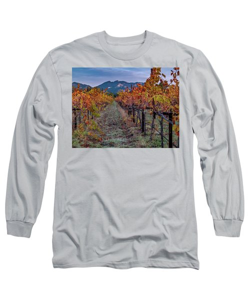Long Sleeve T-Shirt featuring the pastel Fall In Wine Country by Bill Gallagher