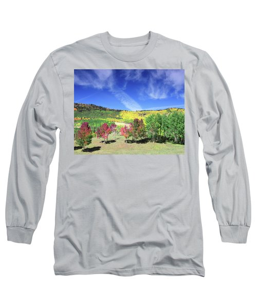 Fall On County Road 12 Long Sleeve T-Shirt