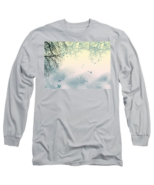 Falling Leaves Long Sleeve T-Shirt by Trilby Cole