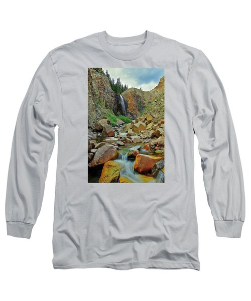 Falling Long Sleeve T-Shirt by Matt Helm