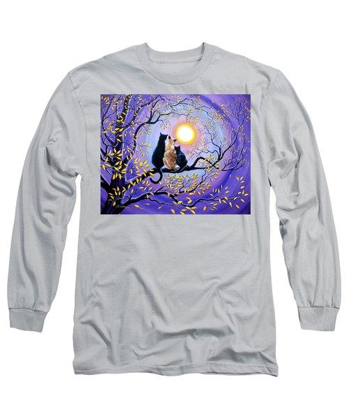 Family Moon Gazing Night Long Sleeve T-Shirt