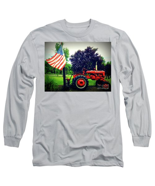 Farmall And Flag Long Sleeve T-Shirt