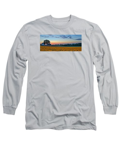 Farmhouse Among The Wallflowers Long Sleeve T-Shirt