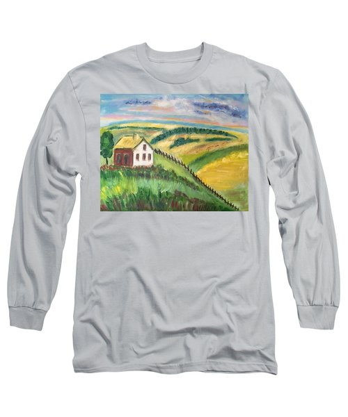 Farmhouse On A Hill Long Sleeve T-Shirt
