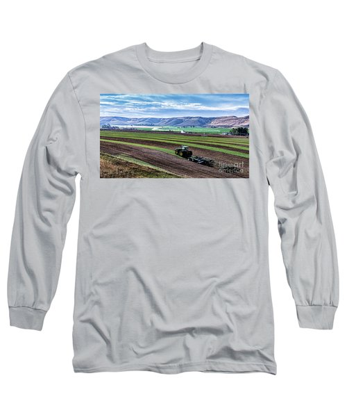 Farming In Pardise Agriculture Art By Kaylyn Franks Long Sleeve T-Shirt