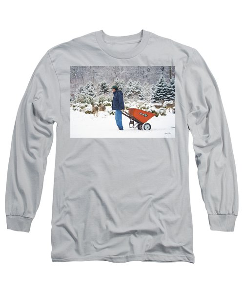 Long Sleeve T-Shirt featuring the photograph Farmlife by Angel Cher