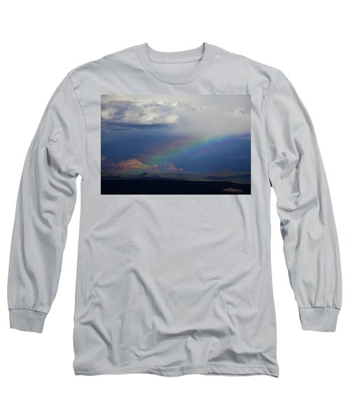 Long Sleeve T-Shirt featuring the photograph Fat Rainbow, Sedona Az by Ron Chilston