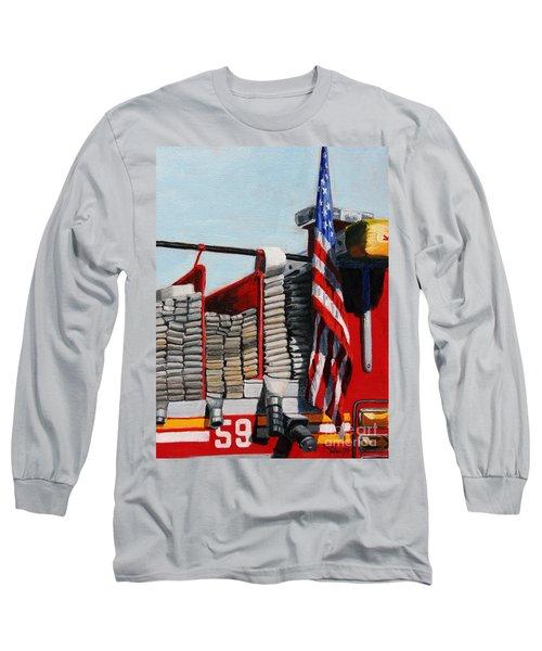 Fdny Engine 59 American Flag Long Sleeve T-Shirt