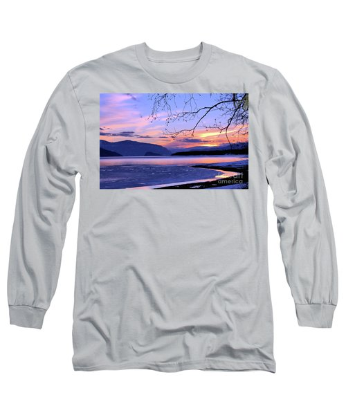 February Sunset 2 Long Sleeve T-Shirt by Victor K