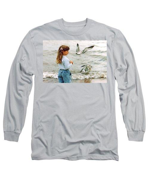 Feeding Gulls Long Sleeve T-Shirt