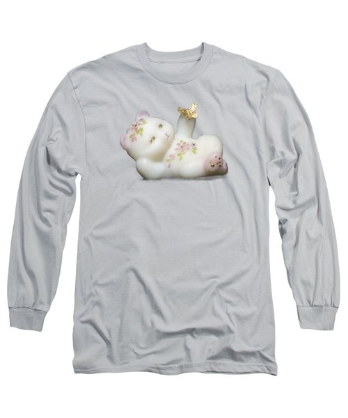 Long Sleeve T-Shirt featuring the pyrography Fenton Bear Cutout by Linda Phelps