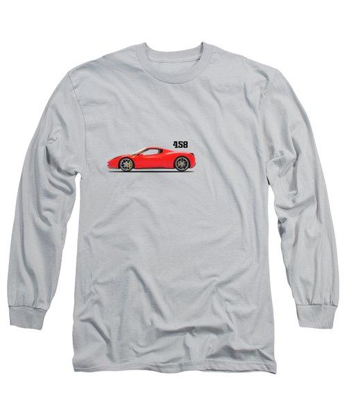 Ferrari 458 Italia Long Sleeve T-Shirt by Mark Rogan