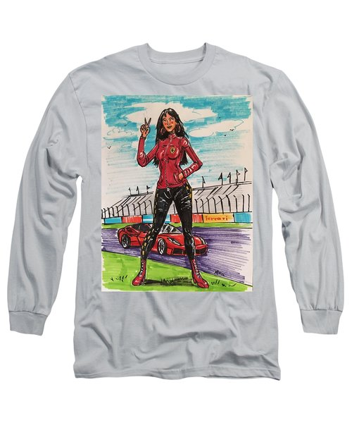 Ferrari Girl Long Sleeve T-Shirt