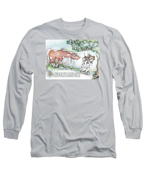 Long Sleeve T-Shirt featuring the painting Fickle Creatures Foto by Dawn Sperry