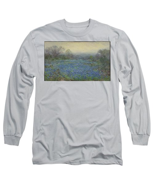 Field Of Bluebonnets Long Sleeve T-Shirt