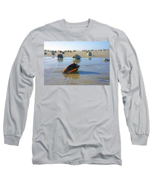 Fighting Conchs On The Sandbar Long Sleeve T-Shirt