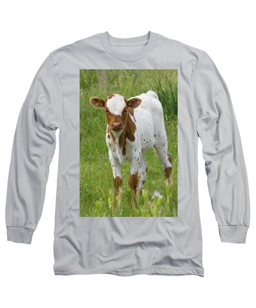 Fine Looking Longhorn Calf Long Sleeve T-Shirt