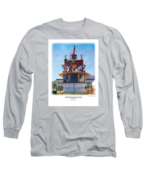 Fire Boat Long Sleeve T-Shirt by Kenneth De Tore