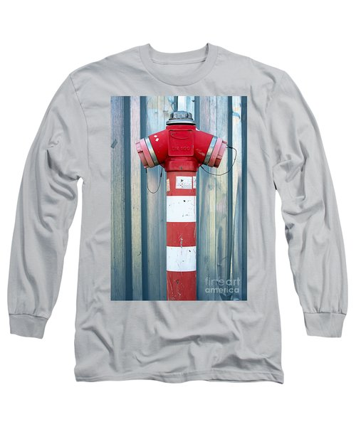 Fire Hydrant Steel Wall Long Sleeve T-Shirt