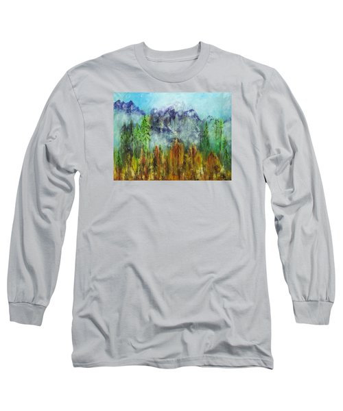 Fire In Glacier Park Long Sleeve T-Shirt