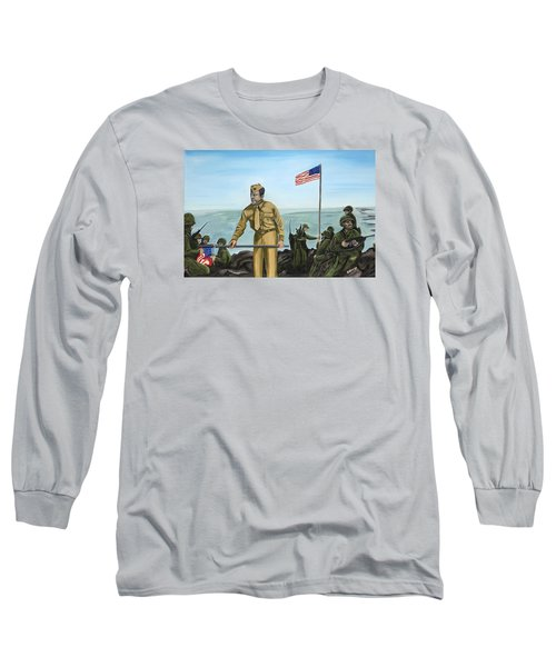 First Flag Raising Iwo Jima Long Sleeve T-Shirt