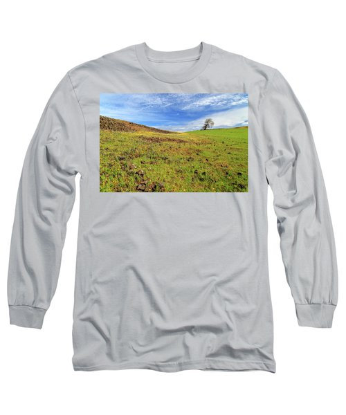 Long Sleeve T-Shirt featuring the photograph First Flowers On North Table Mountain by James Eddy