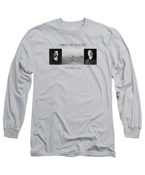 First In Flight - The Wright Brothers Long Sleeve T-Shirt