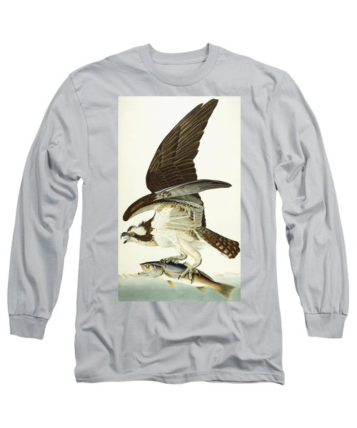 Fish Hawk Long Sleeve T-Shirt by John James Audubon