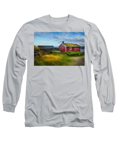 Long Sleeve T-Shirt featuring the photograph Fisherman House by Maciej Markiewicz