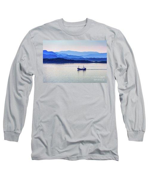Fishing Boat At Dawn Long Sleeve T-Shirt
