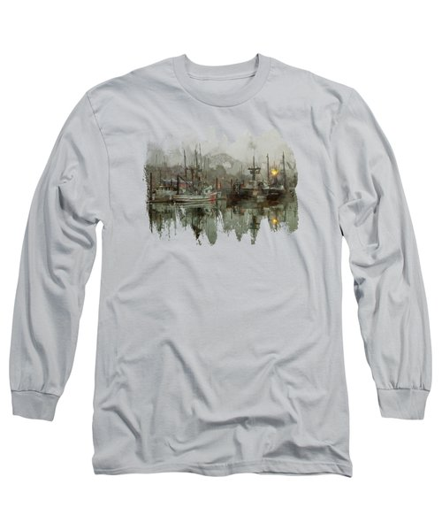 Fishing Fleet Dock Five Long Sleeve T-Shirt