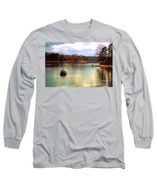 Long Sleeve T-Shirt featuring the photograph Fishing Hot Springs Ar by Diana Mary Sharpton