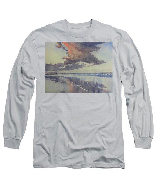 Flamborough Head From Fraisthorpe Beach Long Sleeve T-Shirt