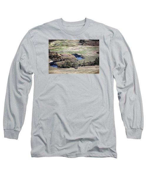 Flathead River 3 Long Sleeve T-Shirt by Janie Johnson