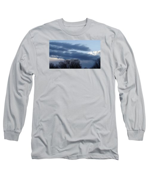 Long Sleeve T-Shirt featuring the photograph Floating Blue Clouds by Don Koester