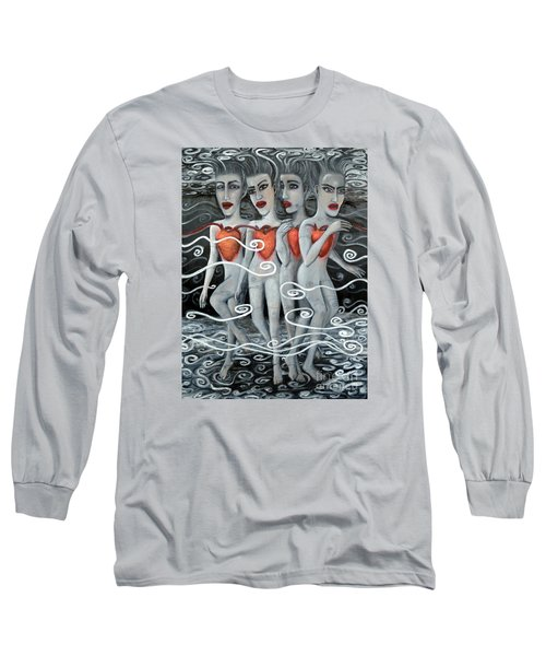 Floating Hearts Eleven Long Sleeve T-Shirt