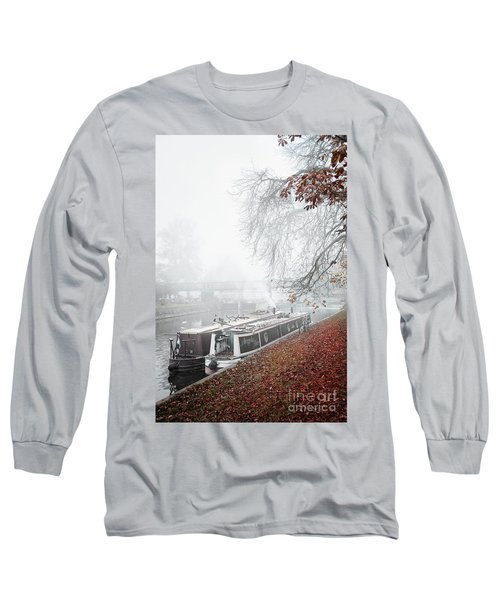 Floating Homes Of  River Cam Long Sleeve T-Shirt by Eden Baed