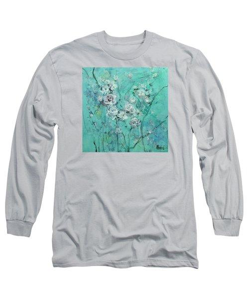 Floating Roses Painting Long Sleeve T-Shirt by Chris Hobel