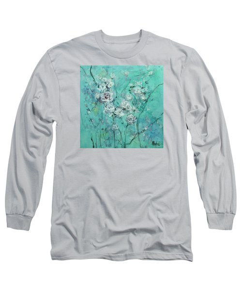 Floating Roses Painting Long Sleeve T-Shirt