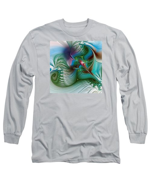 Long Sleeve T-Shirt featuring the digital art Floating Through The Abyss by Karin Kuhlmann