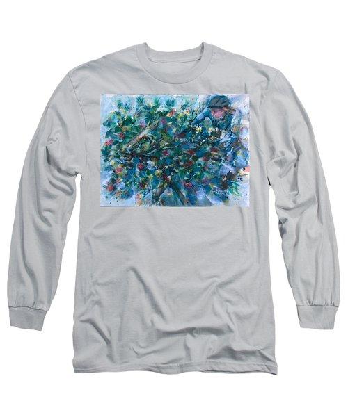 Flow Away Long Sleeve T-Shirt by Laila Awad Jamaleldin