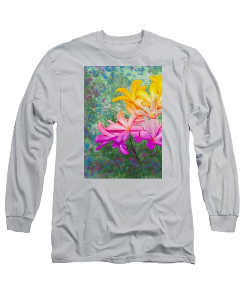 God Made Art In Flowers Long Sleeve T-Shirt by Manjot Singh Sachdeva