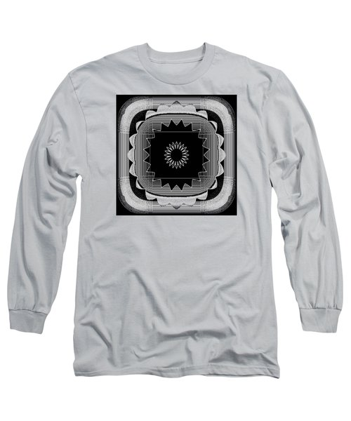 Long Sleeve T-Shirt featuring the digital art Flower In Black And White by Carolyn Repka
