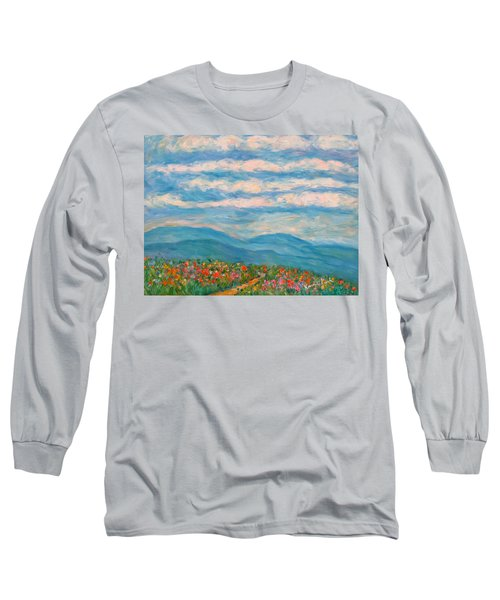 Flower Path To The Blue Ridge Long Sleeve T-Shirt