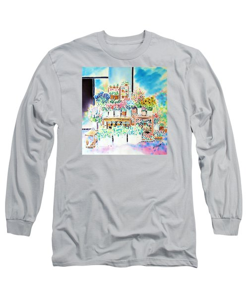 Flower Shop In Paris Long Sleeve T-Shirt
